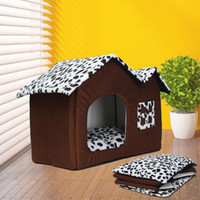 ingrosso letti di lusso di animazione-Portable Luxury Spot Double Top Pet House Dog Cat Sleep Bed Warm Coy Puppy Beding Home Pad Cushioh