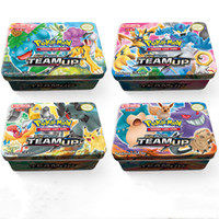 Wholesale cards game free for sale - Group buy New Arrival Metal Box Cards Game Pocket Monster Team Up Cards Box DHL Kids Best Gifts