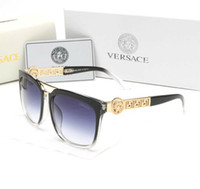 Wholesale polaroid sunglasses men resale online - Mirror Sunglasses Round unisex sun glasse2020Designer Eyewear Gold Flash