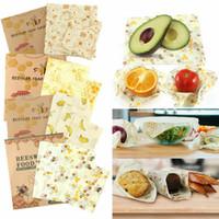 3 Pack Natural Reusable Beeswax Food Wrap Paper Bees Wax - Small Medium Large