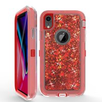 Wholesale defender case iphone 6s plus for sale - Hybrid in1 Defender Robot Quicksand case for iPhone plus xr xs max Liquid Glitter case for samsung S9 plus note