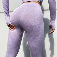 medias deportivas leggings al por mayor-Mujeres Sexy Pantalones Deportivos de Yoga Dersigner Pantalones de Pista Tight Leggings de Cintura Alta Mujeres Joggers Sport Wear Ropa de Fitness Atlético