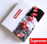 meias chinelo venda por atacado-Seis Par Homem Mulher Meias de Algodão Logotipo Popular Casual Sock Chinelo Marca de Design Estilo Cusual Meia xmjh Frete Grátis