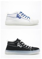 Wholesale crystal shoes online - 2019 new men women Jelly streetwear Trainers Designer Sports Shoes Mid help crystal bottom light and fashion plate shoes fashionable shoes