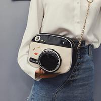 ingrosso telecamere in pelle-Borsa a tracolla in pelle di design-moda borsa a tracolla Borsa a tracolla stile caso fotocamera Design Borsa a tracolla piccola catena carina da donna Piccola borsa vintage