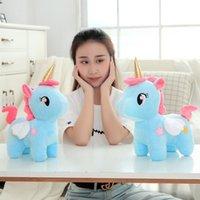 kız doldurulmuş oyuncaklar toptan satış-20 cm Yüksek Kalite Sevimli Unicorn Peluş Oyuncak Dolması Unicornio Hayvan Bebekler Yumuşak Karikatür Oyuncaklar Çocuk Kız Çocuklar için Doğum Günü Hediyesi C5