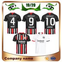 beyaz futbol üniforma toptan satış-2019 Eintracht Frankfurt DA COSTA Futbol Forması 19/20 Frankfurt Home FERNANDES DE GUZMAN JOVIC Deplasmanda beyaz HALLER KOSTIC Futbol Forması
