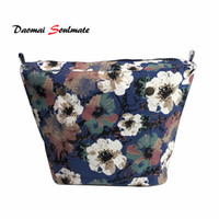 Wholesale insert for bag for sale - Group buy Blue Flower canvas Lining Pocket interior inserts Inner suitable for obag o bag Accessories silicon bag women