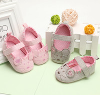 Wholesale cute purple baby shoes for sale - Newborn Baby Girl Shoes Cute Animal Princess Kid Anti slip On Shoes Months Toddler Crib Hook Loop First Walkers