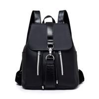 bayan genç toptan satış-Son kadın sırt çantası Bayanlar PU Deri Kadın Sırt Genç Okul Çantaları Mochila Feminina Sırt Çantası Mochilas Mujer