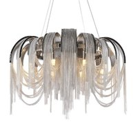 Wholesale can light design resale online - New design LED aluminum chandeliers luxury light D650mm Gold silver can be customized Free of freight LLFA