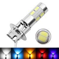 Wholesale high power fog lights resale online - 1pcs H3 Led Bulb Car Fog Lights High Power Lamp SMD Car Running lights Led bulbs Light V K White Yellow Amber