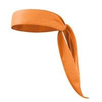 spor saç bandanaları toptan satış-Moda Bandanalar Bandı Başkanı Kravat Hairband Koşu Tenis Karate Atletizm Kısa Stil Saç Aksesuarları Için Spor Kravat