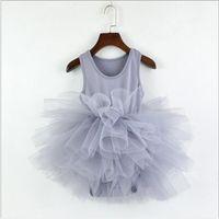 ingrosso abbigliamento da ballo per bambini-12 colori neonate volant pagliaccetto vestito bambini pieghettati tutu di danza costumi di danza di un pezzo vestiti discoteca chilren tute abbigliamento
