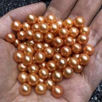 perlas de agua dulce colores al por mayor-Gran brillo suelto redondo perlas de agua dulce sin agujero teñido Color Mix 28 diferentes colores para la joyería diy envío gratis