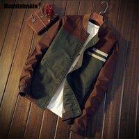 militärischer modemantel für männer großhandel-Mountainskin 4XL New Herren Jacken Herbst Military Herren Mäntel Fashion Slim Casual Jacken Männliche Oberbekleidung Baseballuniform SA461 SH190904