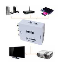Wholesale av cable hdmi for sale - Group buy New Composite RCA AV HDMI CVBS to HDMI Adapter Support HD P P AV to HDMI Mini AV2HDMI Video Converter Free DHL