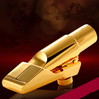 mantar yağı toptan satış-Sax aletler aksesuarları Metal ağızlık Alto Tenor Soprano Mükemmel kalite. Ücretsiz gönderi