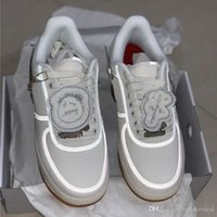Wholesale breathable mesh shoes men resale online - 2019 Forces x TRAVIS White Skateboard Running Shoes M Reflect Fashion Men Women Casual Sneakers With Box