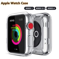 Wholesale apple watch case resale online - High Quality TUP Whole Cover Case for Apple Watch High Transparency Anti Fingerprinters mm