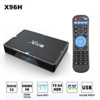 tv için hdmi medya çalar toptan satış-X96H Android 9.0 akıllı tv kutusu 4 GB 32 GB Bluetooth 4.1 2.4g / 5g wifi hdmi in iptv set üstü kutusu 3 usb portu 2G 16G medya oynatıcı PK X96
