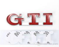 arabalar için rozetleri toptan satış-Araba Styling Oto Araba Çıkartmaları Arka Bagaj Rozeti çıkartması Dekoratif VW POLO GOLF MK3 MK4 MK5 GTI Amblem Sticker için