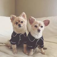 ropa yorkie al por mayor-Pijamas para perros Ropa para el mono de invierno para perros pequeños y medianos Chihuahua Trajes de color rosa Perrito Yorkie Ropa Traje de gato XS-XL