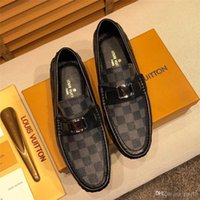 Wholesale crocodile loafers men for sale - Group buy 19SS Men Fur Loafers Leather Moccasin Crocodiles Style Footwear Fashion Slip On Flat Driving Casual Shoes Plush Classical Male YECQ1