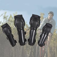 ingrosso guardia shin nero-Ginocchiere Moto Racing Gomito Ginocchiere Parastinchi Protezioni Set protezioni Nero Protezioni DDA301