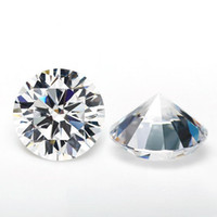 piedras de acrílico diamante al por mayor-Al por mayor de corte brillante redondo Moissanite piedras sueltas VVS1 corte excelente calificación de una prueba positiva Lab diamante para la Realización de joyería de los anillos