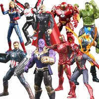 Wholesale best lighted toys resale online - Spiderman Figures Doll Toy LED Flah Light Avengers Supper Hero Models Come with Package Iron Man Hulk Figures Kids Best Gifts