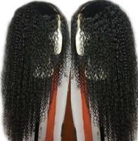 frange de perruque moyenne et noire achat en gros de-Noir et moyen Bangs des femmes européennes européennes petites perruques naturelles bouclés cheveux ensembles de cheveux résistant à la chaleur cosplay parti cheveux perruque complète perruque