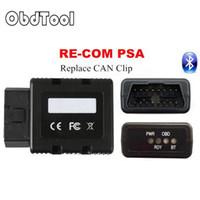 tanı arabirimini klipleyebilir toptan satış-PSA RE COM Bluetooth Arabirimi OBD TeşhisProgramming Çoklu Dil RE-COM Değiştirin Aynı Fonksiyonu Klip Can