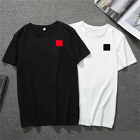 Wholesale 2020 new mens t shirt European American popular small red heart printing T shirt men women couples t shirt
