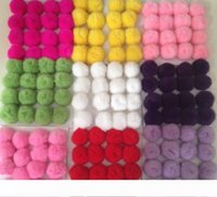 Wholesale cell phone accessories free shipping for sale - Group buy Rabbit Fur Ball PomPom Cell Phone Car Keychain Handbag Charm Key Ring plush key chain Bag Pendant keychain cm Bag Accessory Free Ship DHL
