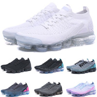 Wholesale breathable athletic shoes resale online - 2019 Airs Sports Shoes For Mens Running Shoes Sneakers Women Black White Blue Cushion Trainers designer Jogging Athletic Run Utility
