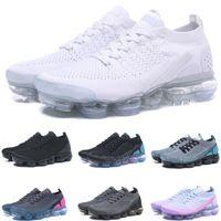 yastıklanmış atletik ayakkabılar toptan satış-2019 Hava Sporları Spor Mens Için 2.0 Koşu Ayakkabıları Sneakers Kadınlar Siyah Beyaz Mavi Yastık Eğitmenler tasarımcı Koşu Atletik Çalıştırmak programı