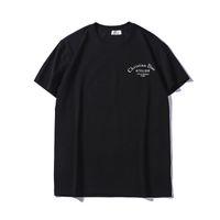 camiseta preta hip hop venda por atacado-2019 verão camiseta mens designer de preto camisetas Mulheres mens casual tops de algodão de manga curta t-shirt de letra da cópia de hip hop do sexo masculino roupas de grife