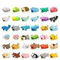 gebissene katze großhandel-TopRank 38 Style Choice Kabelbissschutz für Iphone / ipad / ipod Kaninchen Squishy Soft Cute Cat Fun Toys