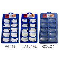 Wholesale white tipped fake nails for sale - Group buy 100 Stiletto False Nails Natural Long Acrylic Nail Tips Sizes Nail Art Tips Artificial Full Coverage Fake Nails