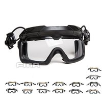 Wholesale anti fog safety goggles resale online - FMA Tactical Helmet Safety Goggles mm White lens Split Anti Fog Goggles TB1333 W Suit for Helmet