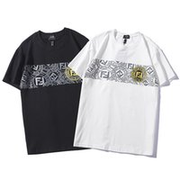 Wholesale new brand high quality cotton woman online - New Summer Mens Designer T Shirts For Men Women FF letter Print T Shirt Mens Clothing Brand Short Sleeve Luxury High Quality Size S XL