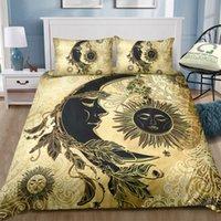 Wholesale new moon bedding resale online - Golden Moon God Bedding Set Luxury Single Double King Size Duvet Cover Set for Home Textile Bedding Supplies New