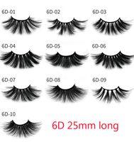 Wholesale pack false lashes resale online - 3D Mink mm lashes Volume Natural long Hair D mm False Eye lashes Extension Fake Lash Makeup Mink Eyelashes Pack