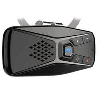 Wholesale visor phone for sale - Group buy Car Sun Visor wireless Handsfree Seven Language Music Receiver Car Handsfree Phone V5 in car speakerphone