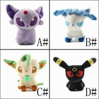 Wholesale ship games pc for sale - Group buy 12CM set Cute Eevee Flareon Vaporeon Jolteon Eevee Leafeon Glaceon Umbreon Espeon Plush Toy Baby Soft Stuffed Toys