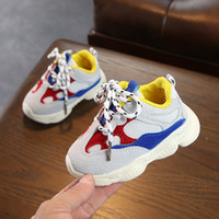 calçados casual para crianças venda por atacado-Meninos recém-nascidos meninas primeiros caminhantes da criança fundo macio antiderrapante tênis bebê menino infantil sapatos q190525