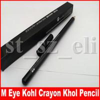 crayón lápiz negro al por mayor-M maquillaje de ojos Kohl Lápiz de color Lápiz Delineador de ojos Lápiz 1,45 g Enfriar Negro Delineador Pen