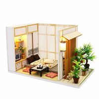 Wholesale 3d assembling diy house doll for sale - Group buy Wooden Toys Diy Dollhouse Puzzle Assemble d Miniaturas Miniature Dollhouse Doll House Furniture Toys For Children Birthday Gift Y19070503