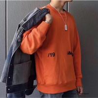 толстовки с капюшоном оранжевого цвета оптовых-ambush Пара влюбленных засаде фуфайки Осень Зима Классический Solid Color 3D печати Оранжевый Черный Белый AB Ambush Толстовка новая мода